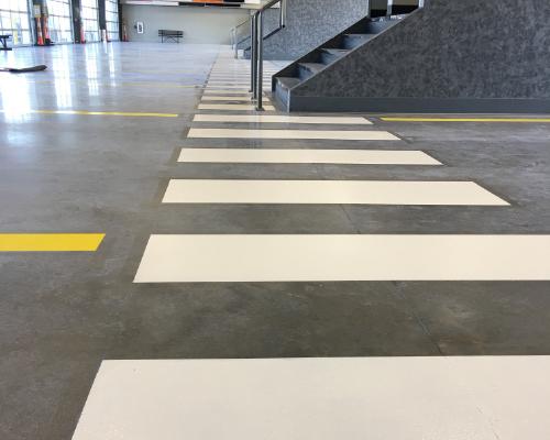line striping warehouse evansville