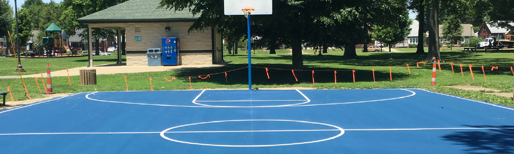 basketball court line striping evansville