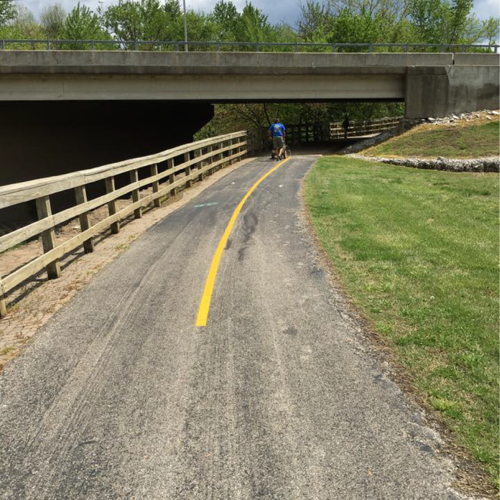 line striping roads evansville