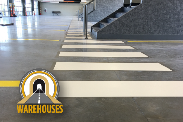 line striping warehouse evansville