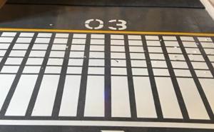 elite line striping warehouse evansville